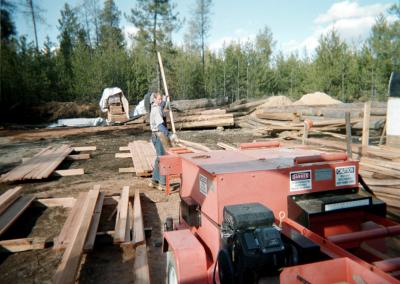 Milling Red Cedar Lumber