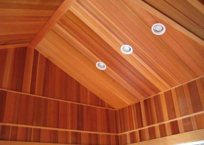 Interior VG Cedar T&G Vaulted Ceiling