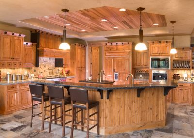 Custom Kitchen Accented with Cedar Ceiling